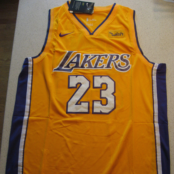 low priced 4d893 283a5 New Lebron James Lakers Gold Swingman Wish Jersey